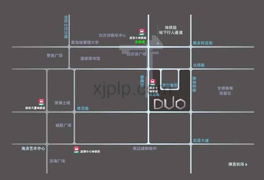 Duo Residences CN Map