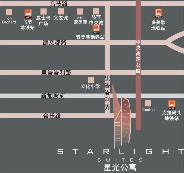 Starlight Suites 星光公寓 位置