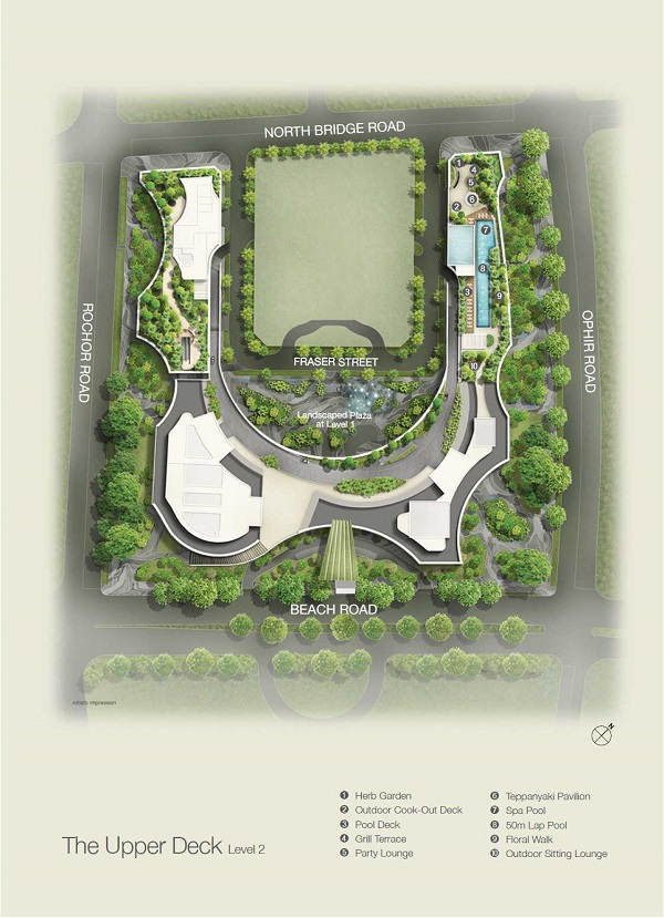 Duo Residences site plan 1