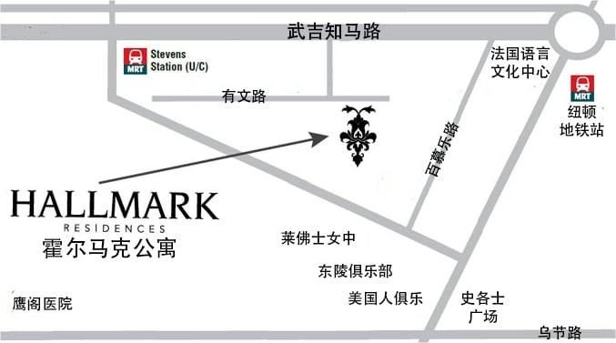Hallmark Residences 霍尔马克公寓 位置