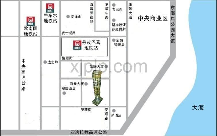 Skysuites at Anson CN Map