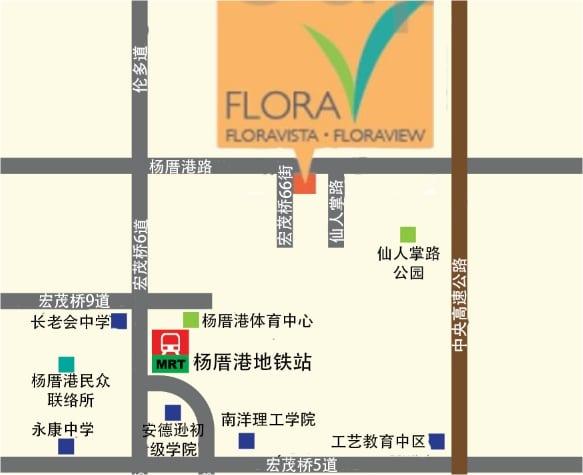 Floravista and Floraview 位置