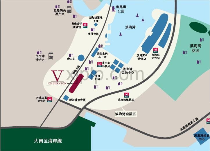 V on Shenton CN Map
