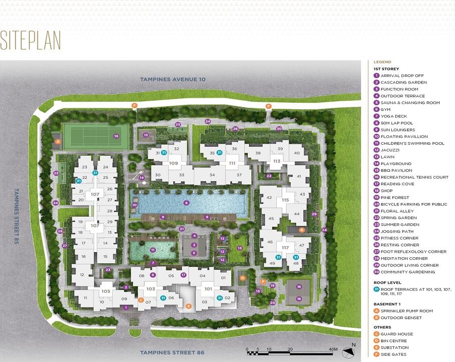 The Alps Residences 规划设计图与设施
