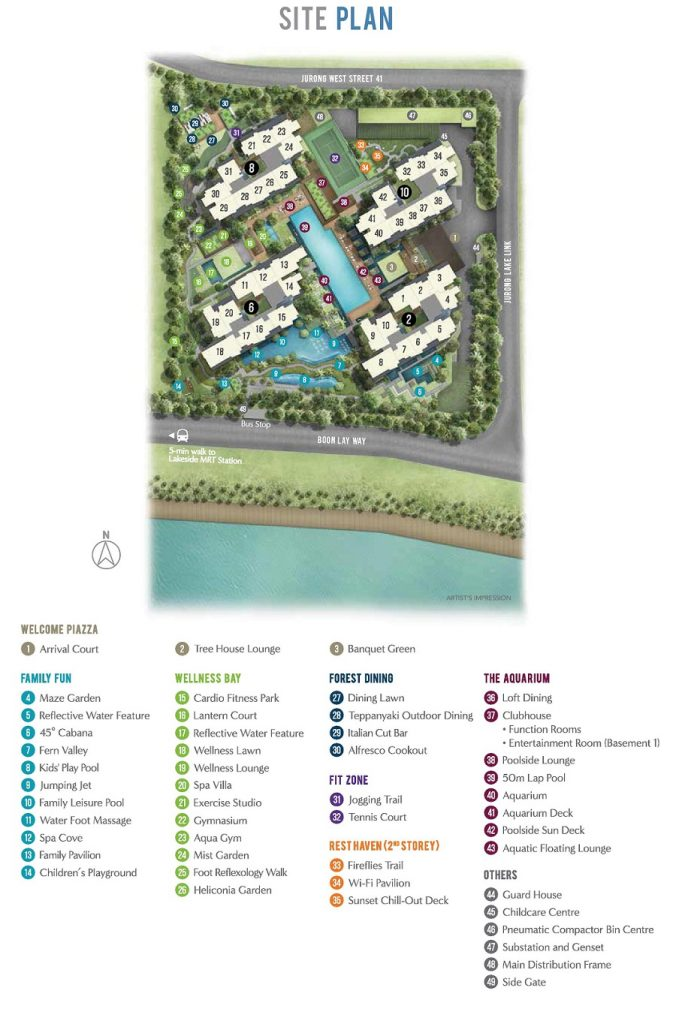 Lake Grande Site Plan 湖景豪苑 规划设计图与设施