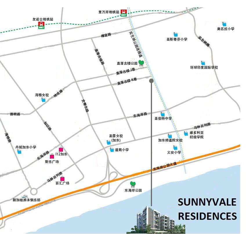 sunnyvale residences 位置