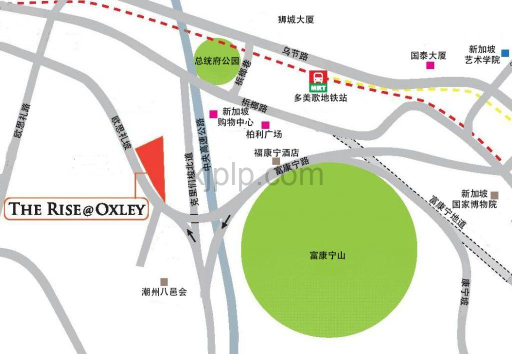 The Rise at Oxley CN Map