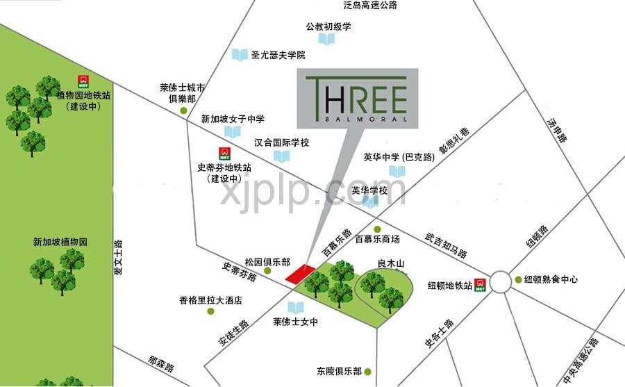 Three Balmoral CN Map