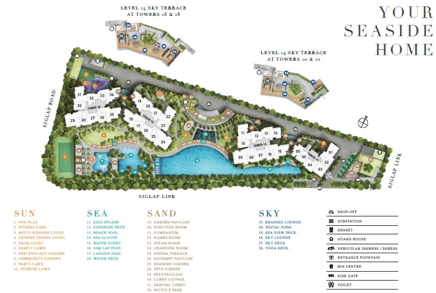 Seaside Residences 海景轩 规划设计图与设施