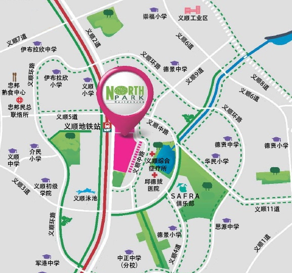 North Park Residences Chinese Map