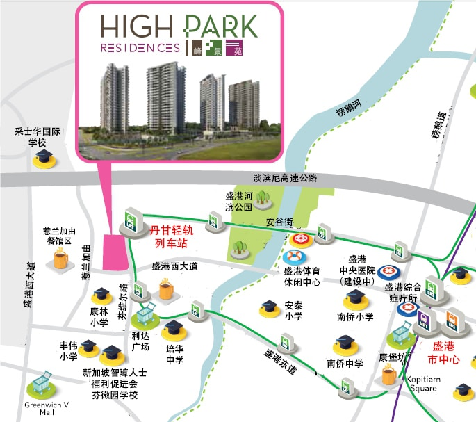 HighPark Map chinese