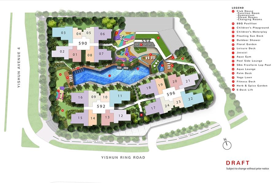 The Wisteria 紫义苑 规划设计图与设施