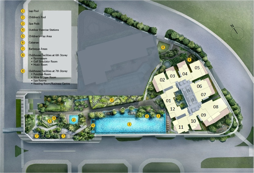 Cairnhill Nine (新经禧) 规划设计图与设施