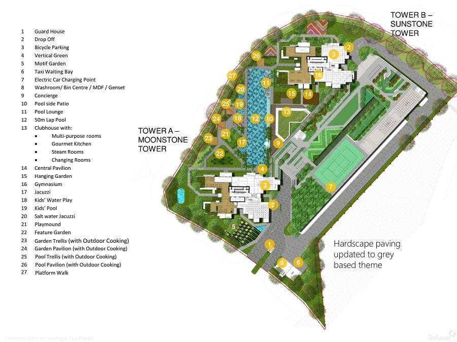 Gem Residences 规划设计图与设施