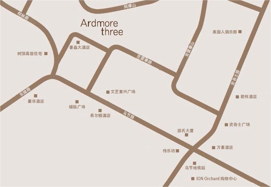 Ardmore III 雅茂 III 位置