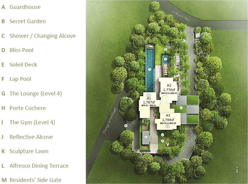 Ardmore III 雅茂 III 规划设计图与设施