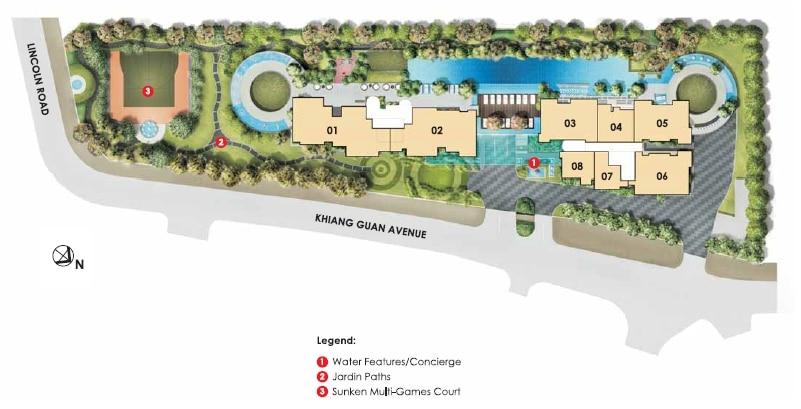 Lincoln Suites Site Plan 1