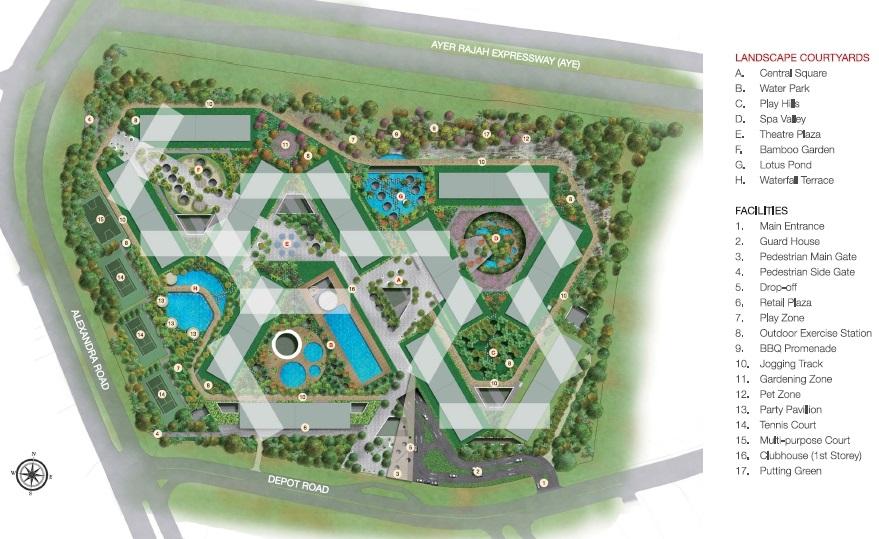 The Interlace (翠城新景) 规划设计图与设施