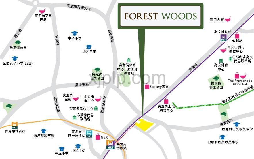 Forest Woods CN Map