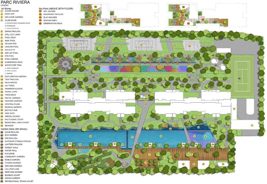 Parc-Riviera-河景苑-规划设计图与设施