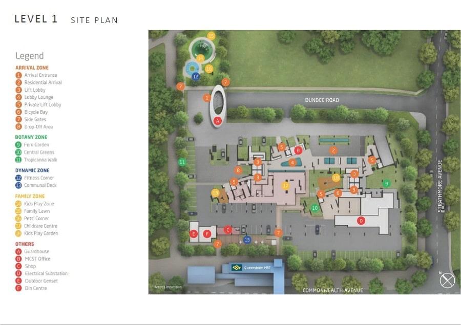 Queens Peak (女皇碧苑) 规划设计图与设施