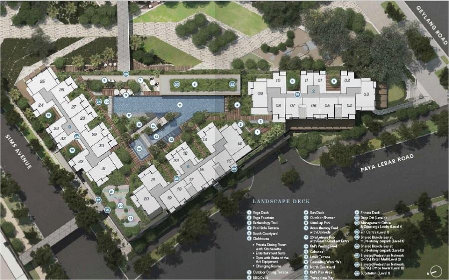 Park Place Residences Site Plan 规划设计图与设施