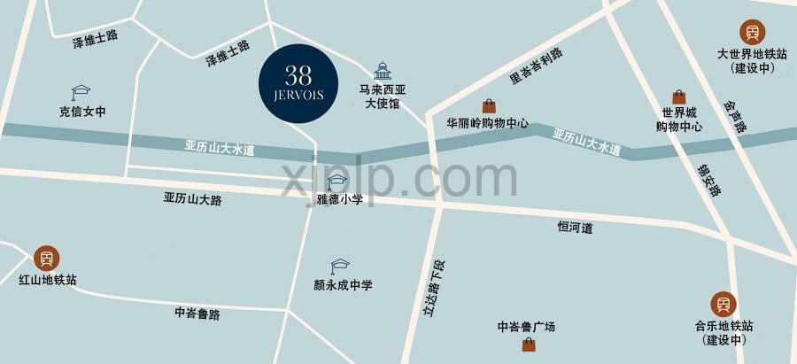 38 Jervois CN Map