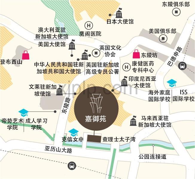 The Crest CN Map