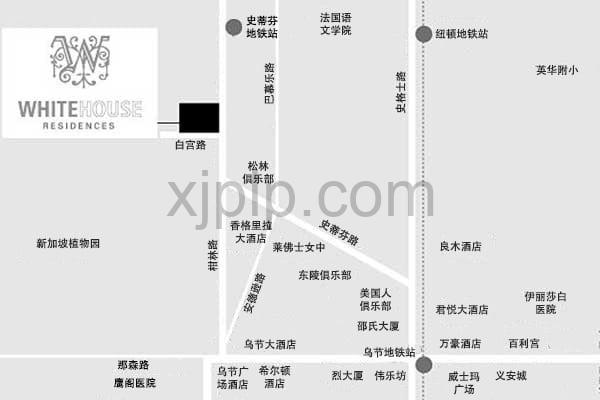White House Residences CN Map