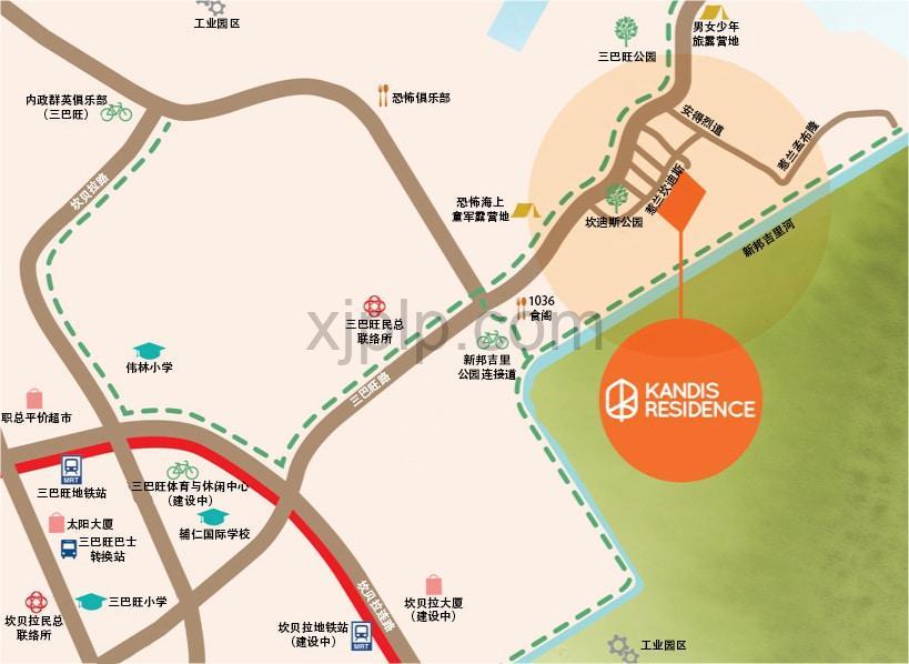 Kandis Residences CN Map