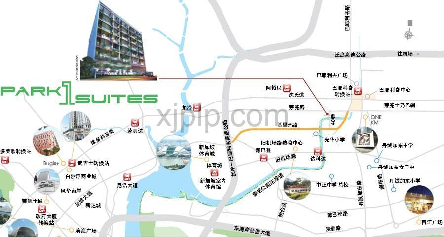 Park 1 Suites CN Map