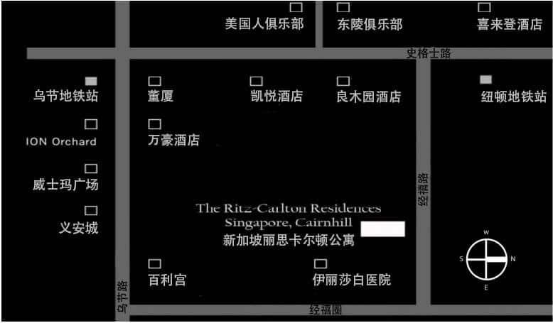 The Ritz Carlton Residences CN Map