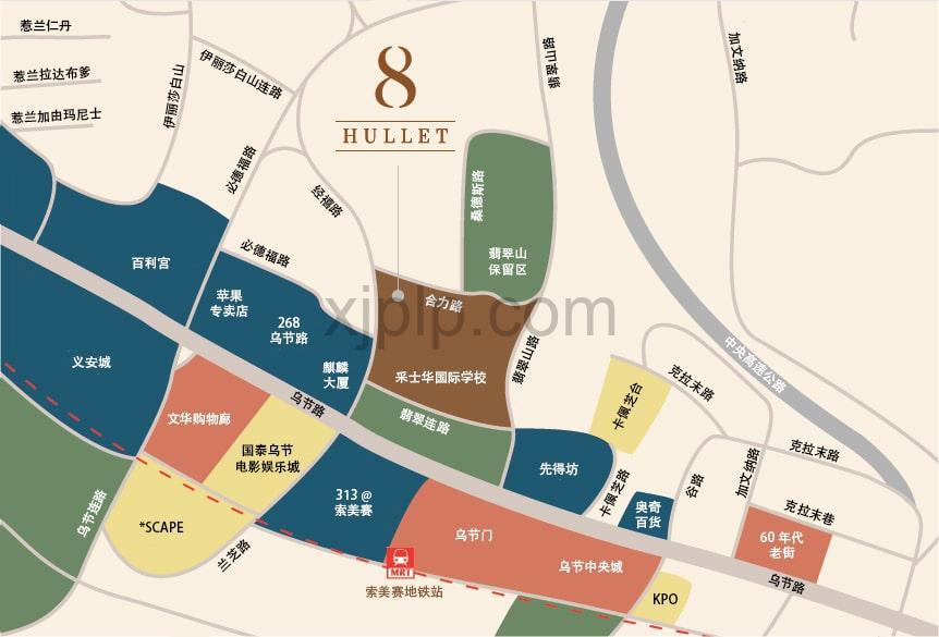 8 Hullet CN Map