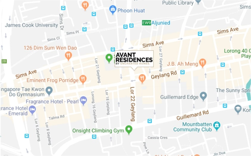 Avant Residences Map
