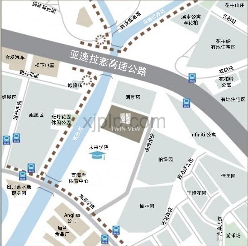 Twin Vew CN Map