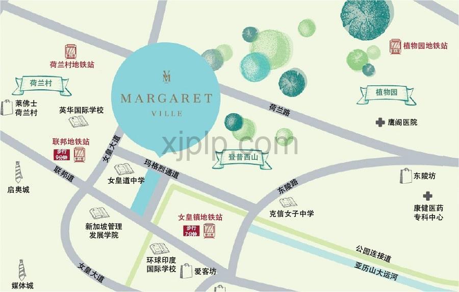 Magaret Ville CN Map