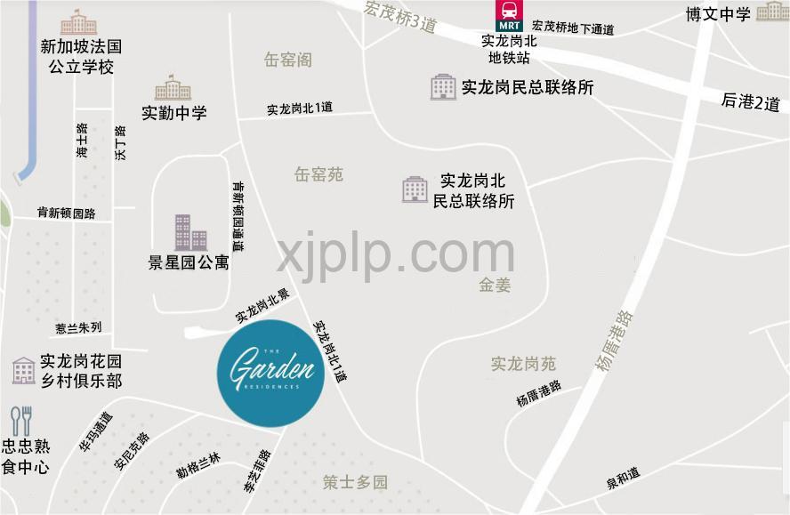 The Garden Residences CN Map