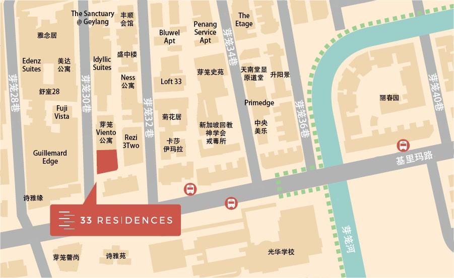 33 Residences 位置