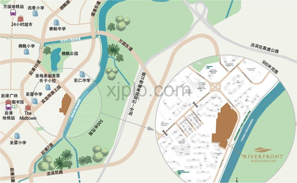 Riverfront Residences CN Map