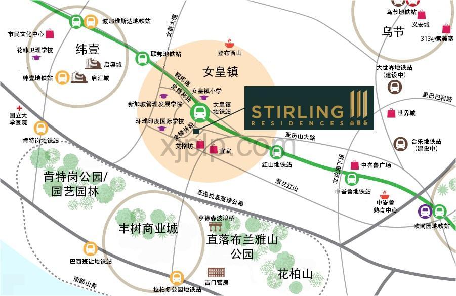 Stirling Residences CN Map