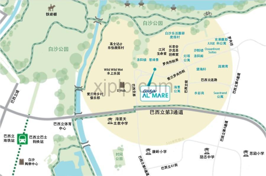 Casa Al Mare CN Map