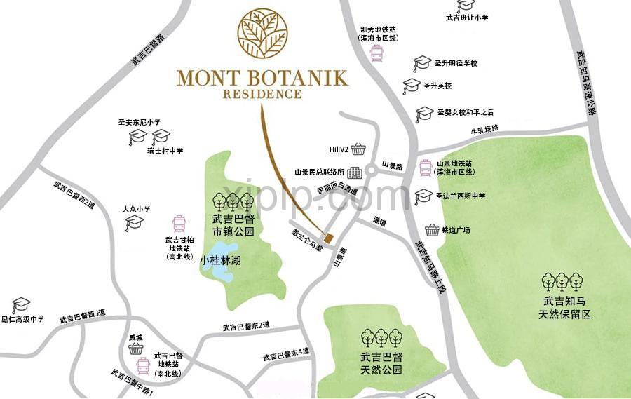 Mont Botanik CN Map