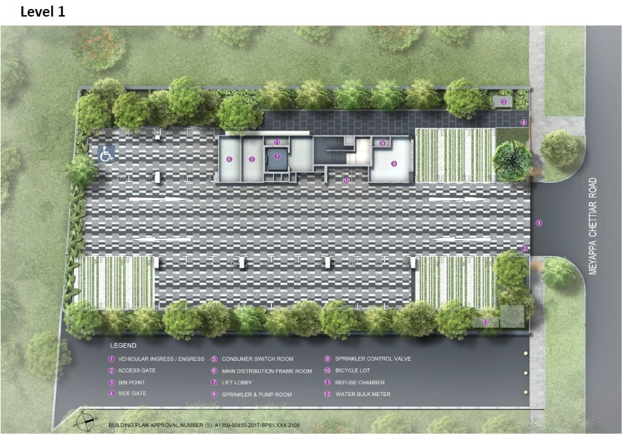 The Addition Site Plan 1