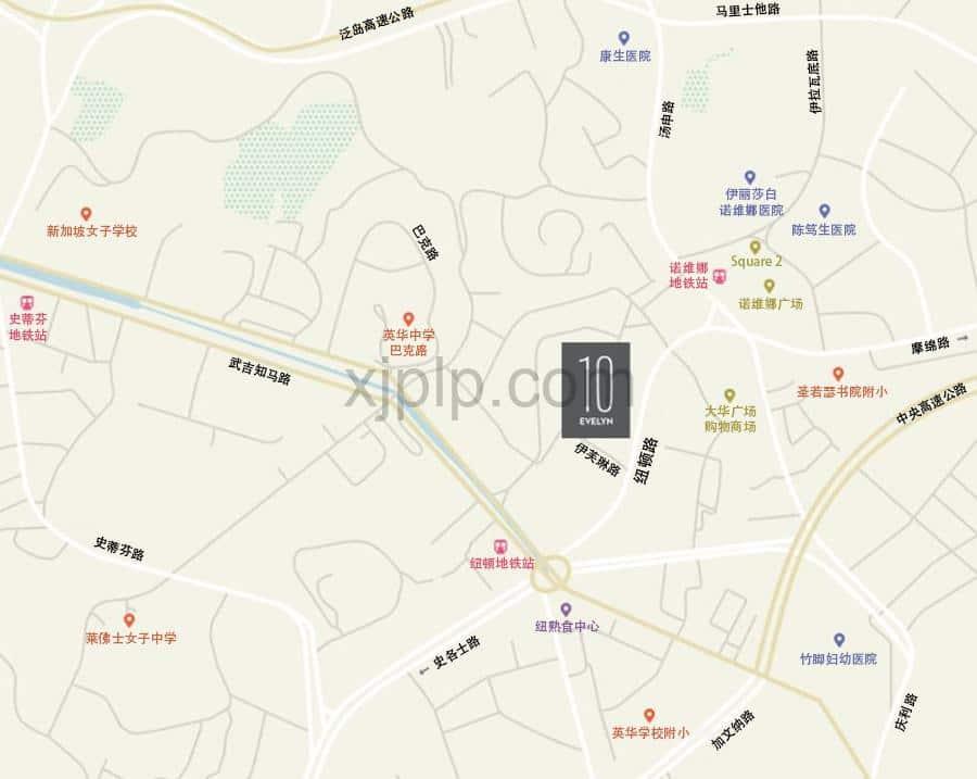 10 Evelyn CN Map