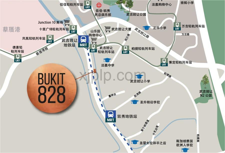Bukit 828 CN Map