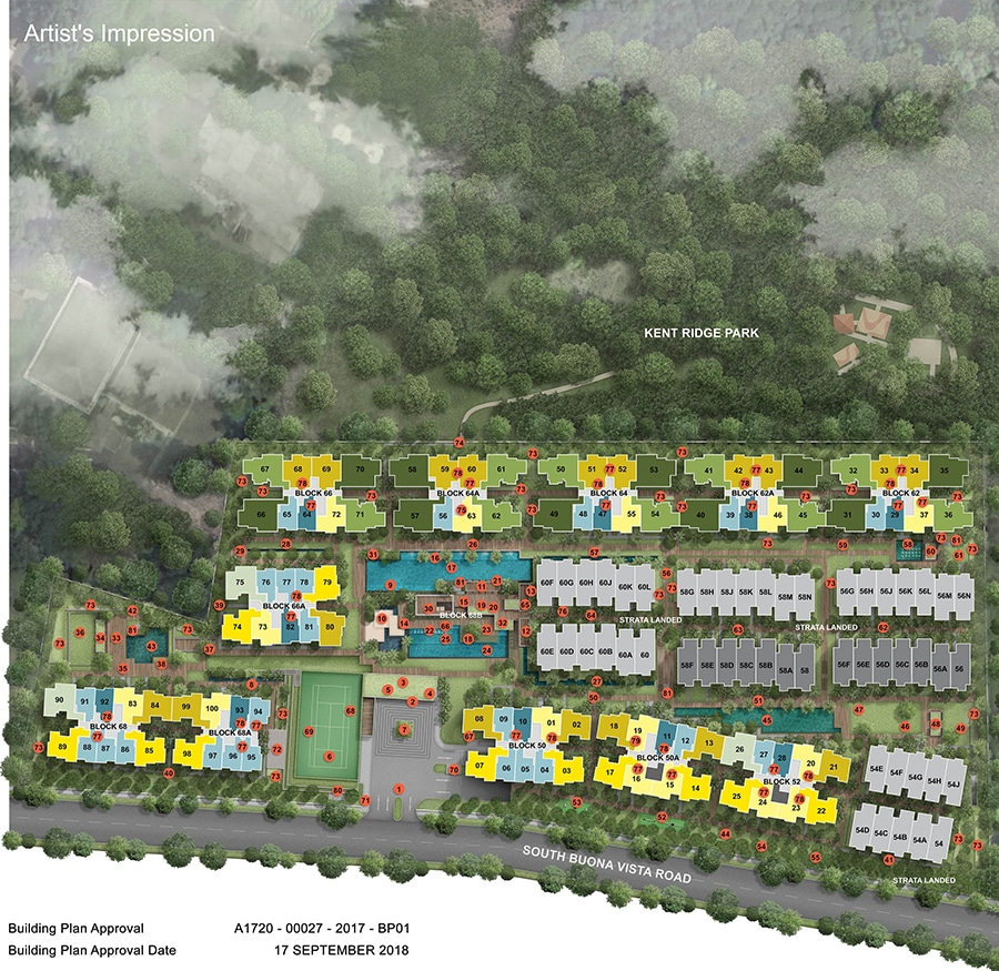 Kent Ridge Hill Residences Site Plan 1