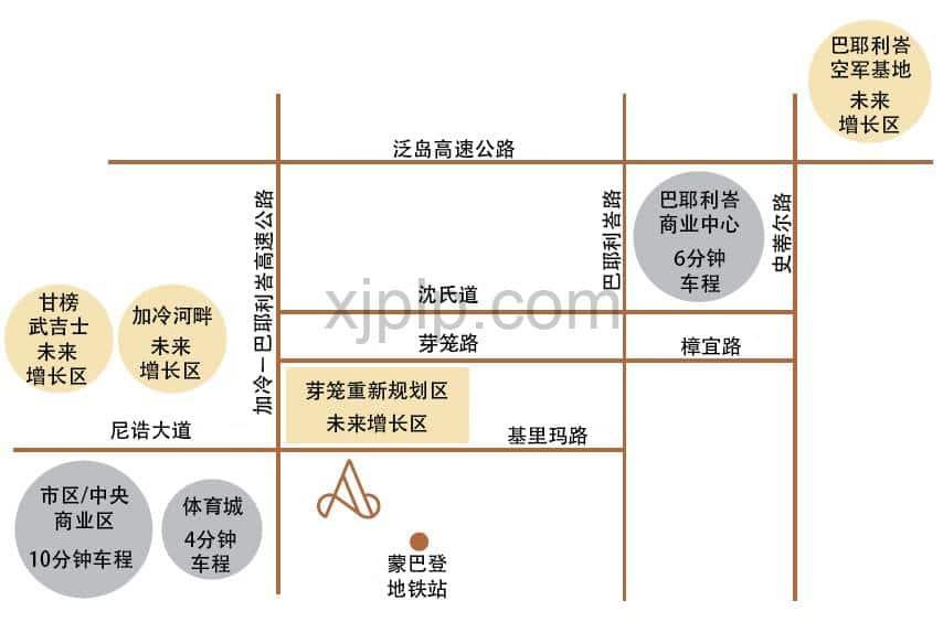 Arena Residences CN Map
