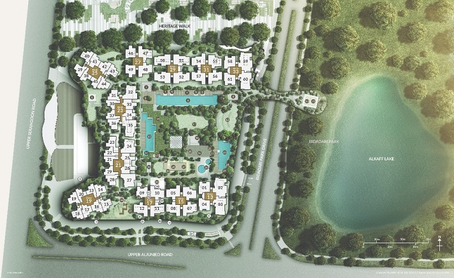 The Woodleigh Residences 桦丽居 Site Plan