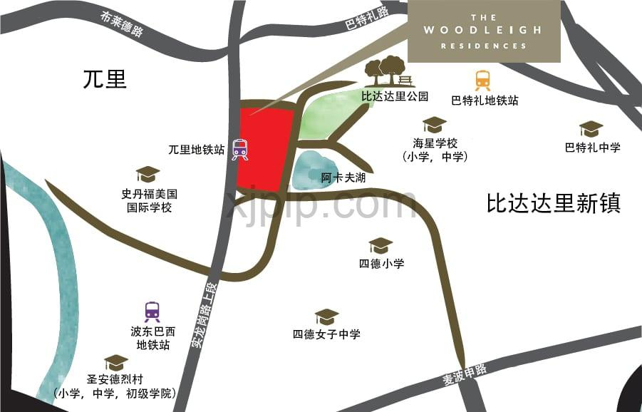 The Woodleigh Residences CN Map