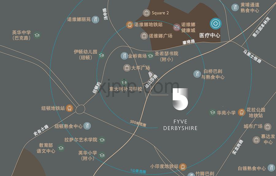 Fype Derbyshire CN Map